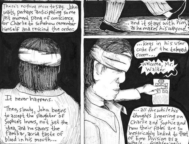 Envy the Dead, Uncompleted Graphic Novel Manuscript, Page 165