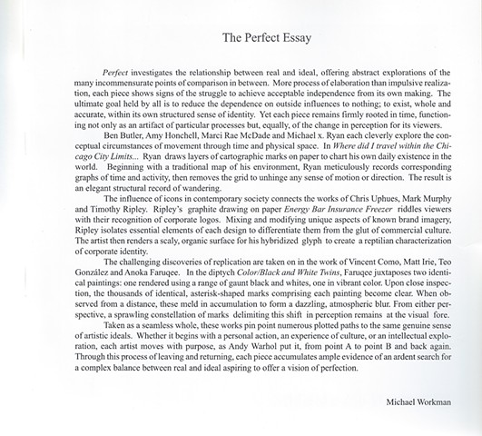 "Catalog Essay for ""Perfect"" at the Chicago Cultural Center, Curated by Maci Rae McDade, Page 2"