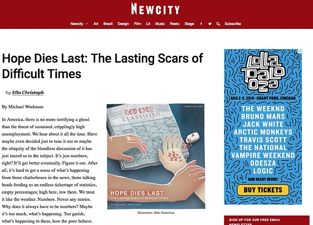 Hope Dies Last: The Lasting Scars of Difficult Times, Newcity, Page 1