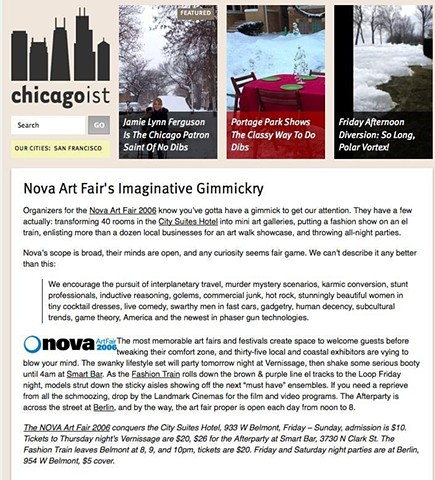 Chicagoist Article on NOVA
