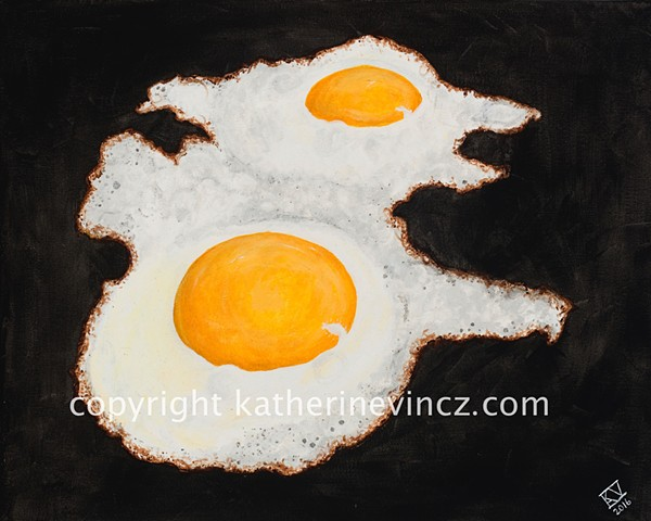 Eggs, sunny side up eggs, cast iron cooking, brunch eggs, perfect eggs, bistro eggs