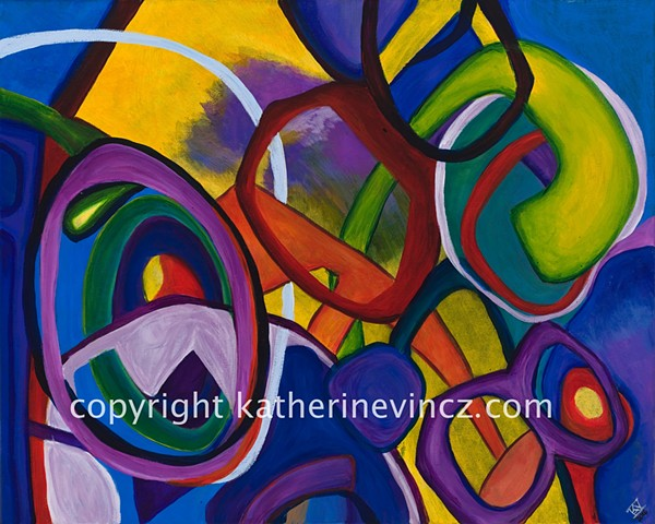 modern art, color explosion, purple art, blue alien art, lime green art
