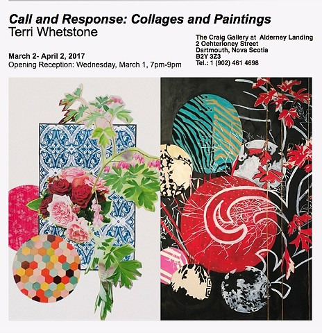 Solo Exhibition: Terri Whetstone: Call & Response: Collages and Paintings, The Craig Gallery March 1 to April 1, 2017