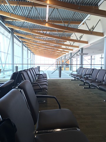 Lonely photograph of empty airport