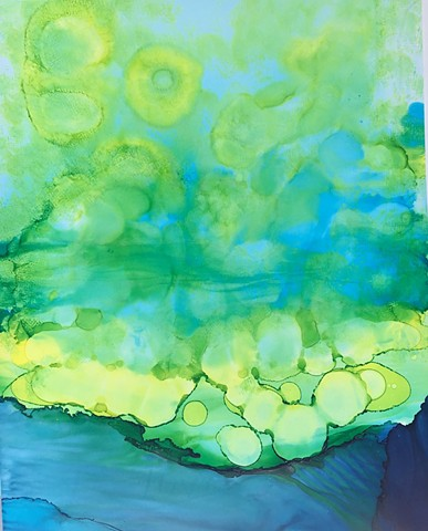 Greens over water - SOLD