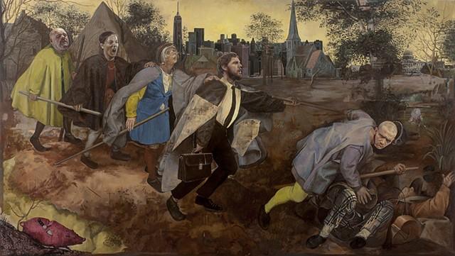 The Blind Leading the Blind after Bruegel