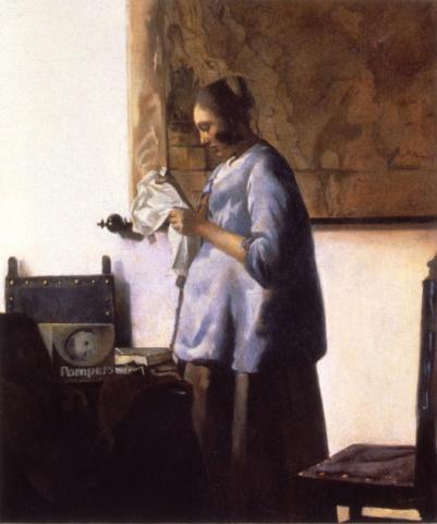 Woman in Blue, Restored