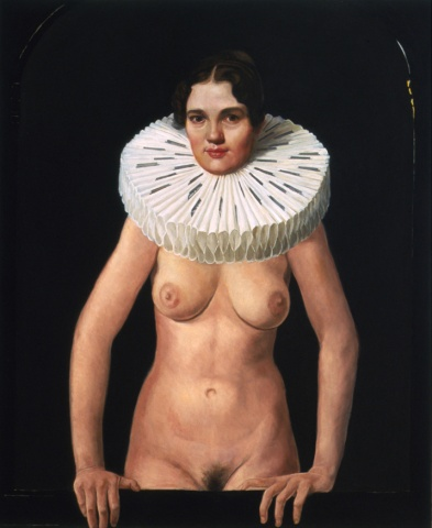 Young Woman with a Razored Ruff, Restored