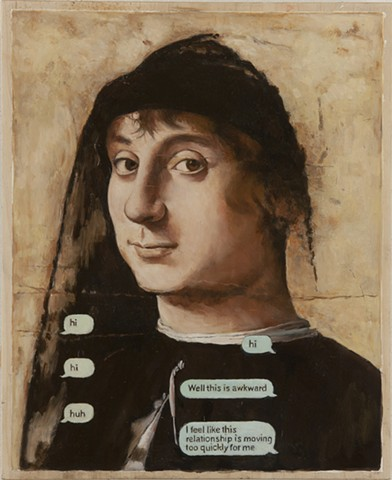 Online Dating-This Relationship is Going Too Fast for Me after Antonello da Messina's Portrait of an Unknown Man