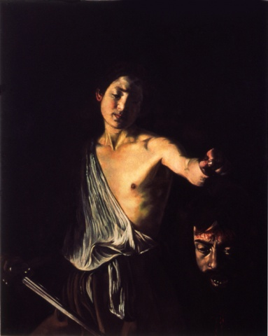 David with the Head of Goliath, Restored