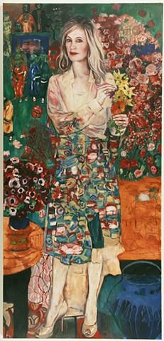 Portrait of Jennifer Blei Stockman after Gustav Klimt's The Dancer