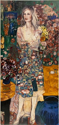 "Portrait of Jennifer Blei Stockman After Gustav Klimt's ""The Dancer"" (Emerging out of her Art Collection)"