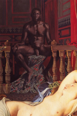 Odalisque with Slave, Restored (Detail)