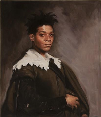 Basquiat as Velasquez's Portrait of Juan De Pareja