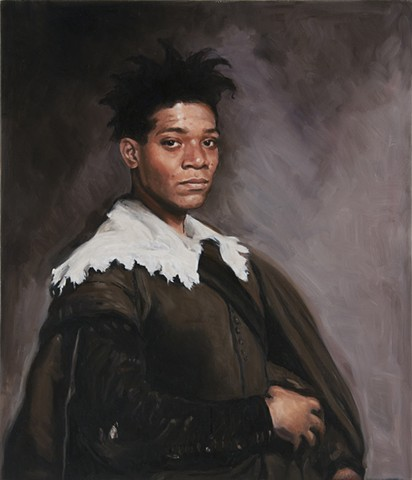 Basquiat as Velazquez's Portrait of Juan de Pareja