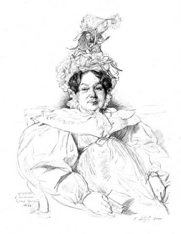 6.Madame Louis-Francoir Bretin, nee' Genevieve-Aimee-Victoire Boutard, Restored