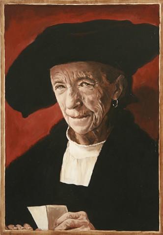 Portrait of Louise Bourgeois after Durer's Portrait of Bernhard von Reesen