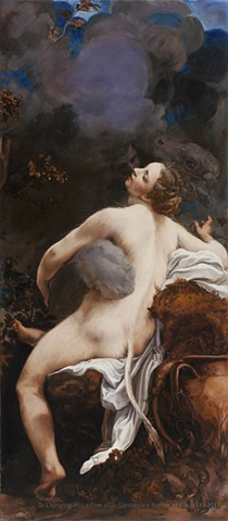 Io Changing into a Cow after Correggio's Jupiter and Io