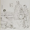 La Famille Stamaty, Restored, 2008 graphite, 46.3x37.5 cm Ingre Museum, Montauban (Louvre)