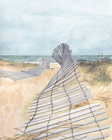 beach fence/sold