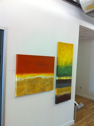 "Two blends: ""Environmental Abstraction in Orange"" and ""Environmental Abstraction In Gold""."
