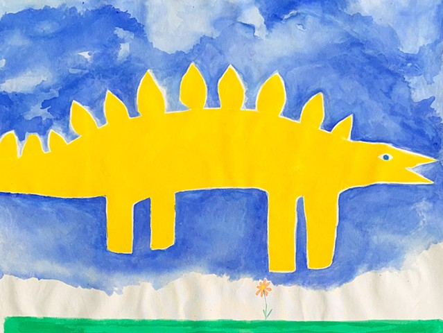 Dinos can fly (painted)