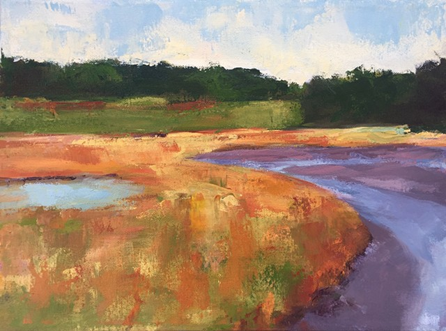Low tide mudflats- Sold