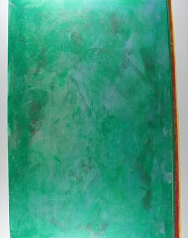 Green, silver reflective