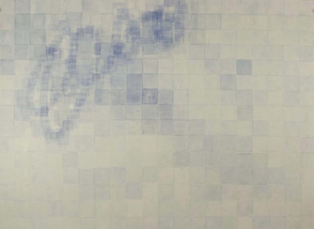 Blue pale watercolor