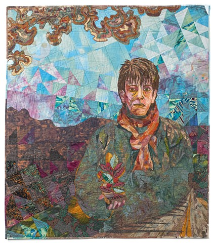 Self-Portrait with Scarf