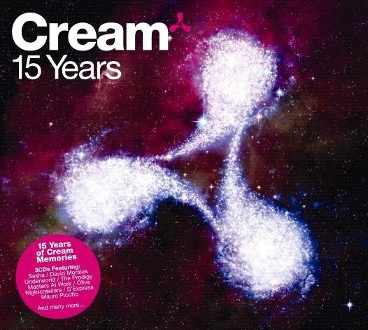 'Cream, 15 Years' Various Artists 3 CD box, cover  Song: 'Club Lonely' by Sam Ellis Ministry of Sound Records/UK