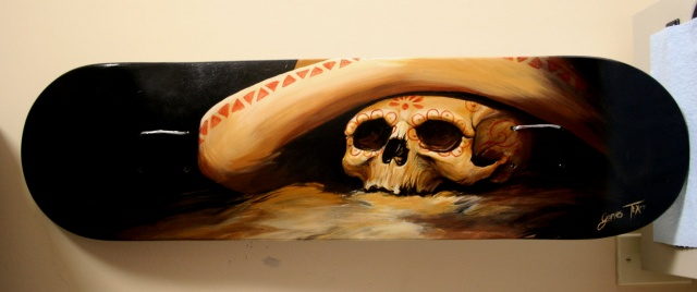 Day of the Dead skull painting