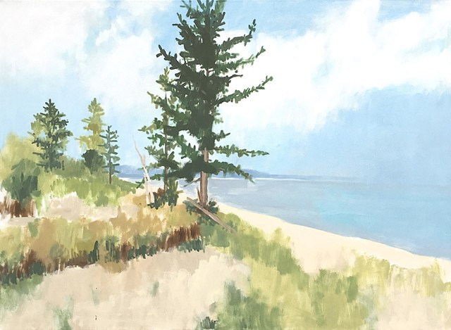 Pines by the Shore