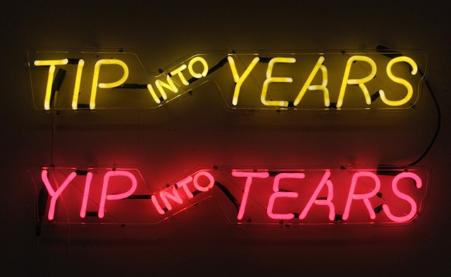 Tip Into Years/Yip Into Tears (After Nauman)(detail)