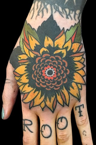 Sunflower hand