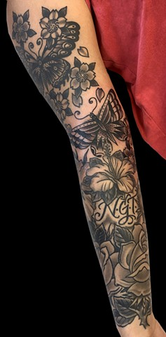 Butterflies and Flowers sleeve