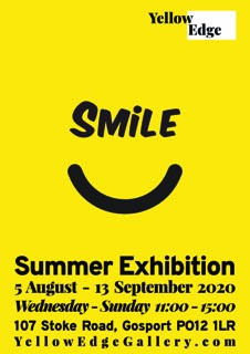 Smile exhibition yellow Edge gallery Gosport