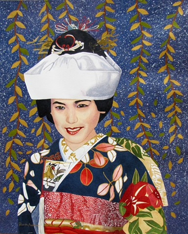 Japanese, Bride, Colorful, Beautiful, Patterns