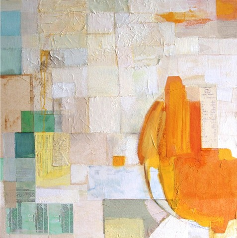 Abstract, Mixed Media Collage, Liza Cassidy