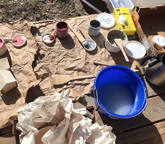 outdoor glaze set-up