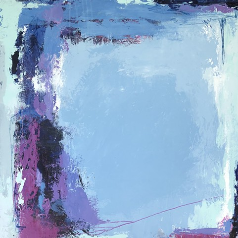 Blue, grey, and magenta abstract