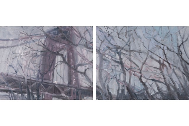 Winter Bridge, diptych