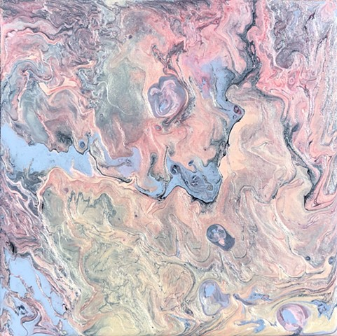 abstract acrylic pour painting