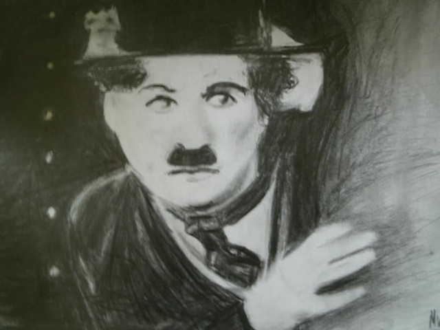 A sketch of the actor Charlie Chaplin