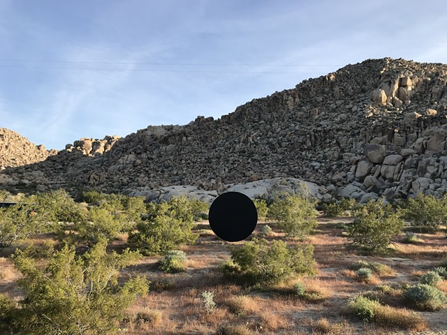 #ailischmeltz #sculpture #outdoorsculpture #joshuatreenial #joshuatree #blackhole #objectwindowbothneither #madeinla #contemporaryart #sculpture #drawing #painting #paintor #joshuatree #madeinla #contemporarypainting #contemporarydrawing #losangeles #losa