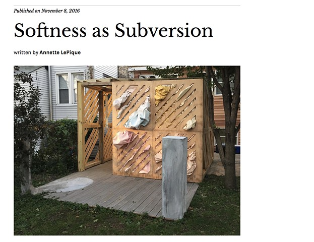Review: Softness as Subversion, November 8, 2016