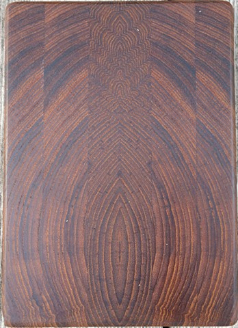 Small Teak Board-End Grain