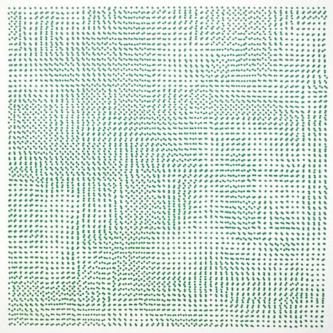 Untitled (green dots)