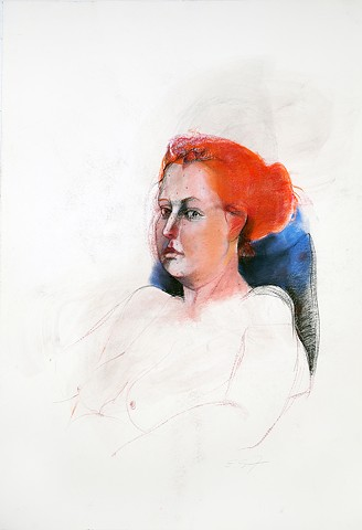 Untitled (figure study, woman with red hair)
