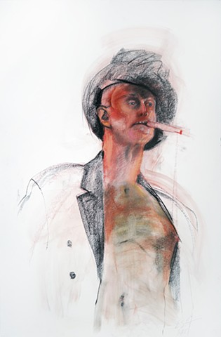 Untitled (figure study, man with hat and cigar)